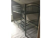 Used Grey/Silver Metal Frame Bunk Bed