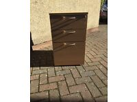 3 drawer filing cabinet. Oak finish