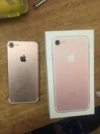 Rose gold I phone 7 32gb