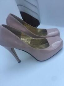 LINZI nude heels- ladies UK 8