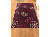 Large purple aubergine rug