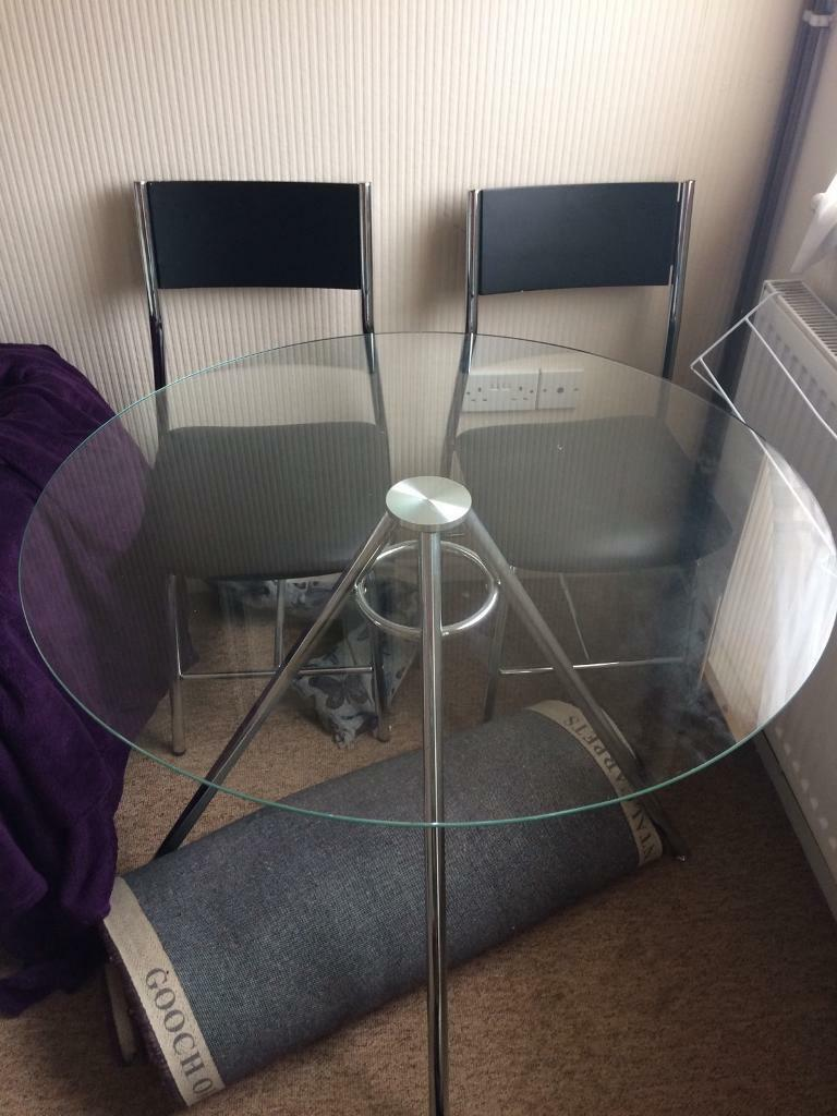 Glass table and 4 chairs in Bridgwater Somerset Gumtree : 86 from www.gumtree.com size 768 x 1024 jpeg 88kB