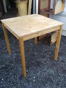 "Oakville IKEA 28x28x28"" Wood Table Cube Square Solid Unfinished Wood Plain Bare wood"