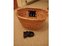 As new bicycle basket with clamp