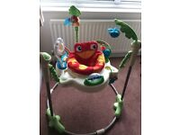 Fisher Price rainforest Jumperoo baby bouncer excellent condition with instructions and box