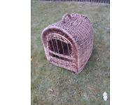 Wicker Cat Carrier/Basket