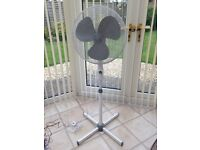 White Freestanding Electric Fan