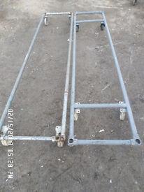 Metal pipe trolleys