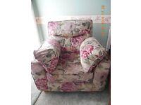 2 seater sofa & chair