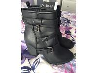 Black Boots - Brand New - Size 6