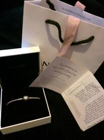 Pandora moments silver bracelet with sparkling heart clasp