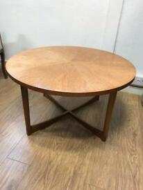 Mid century Mckintosh sunburst coffee table