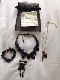 Pilgrim Necklaces, Bracelet and Earnings set