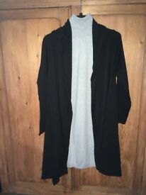 Sarah Paccini black md thigh cardigan for sale
