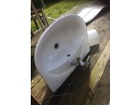 sink Pondelerosa good quality include taps, pedestal