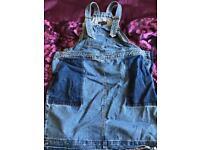Next maternity dress denim pinafore size 14