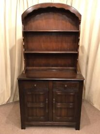 Oak Dutch Dresser - Display Unit With Drawers & Cupboard Cabinet