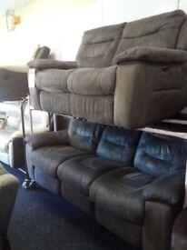 Lazy boy grey electric recliner sofa s