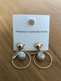 Brand New French Connection Geo Resin Plate Earrings