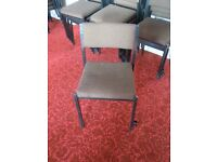 Metal framed chairs with links,