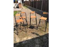 4 x ikea stools