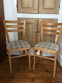 2 x Wooden upholstered Czech chairs