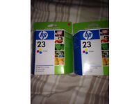 Brand new Hp 23 ink cartridge's buy 1 get one half price