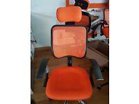 Orange Office Computer Chair Desk High Adjustable Mesh Seat Executive Fabric