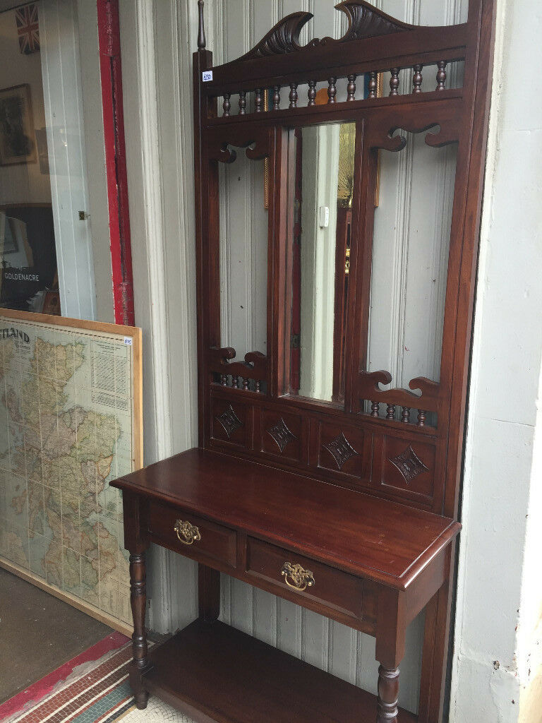 Hall Stand in good condition. Reproduction , good quality and design . Must be seen .