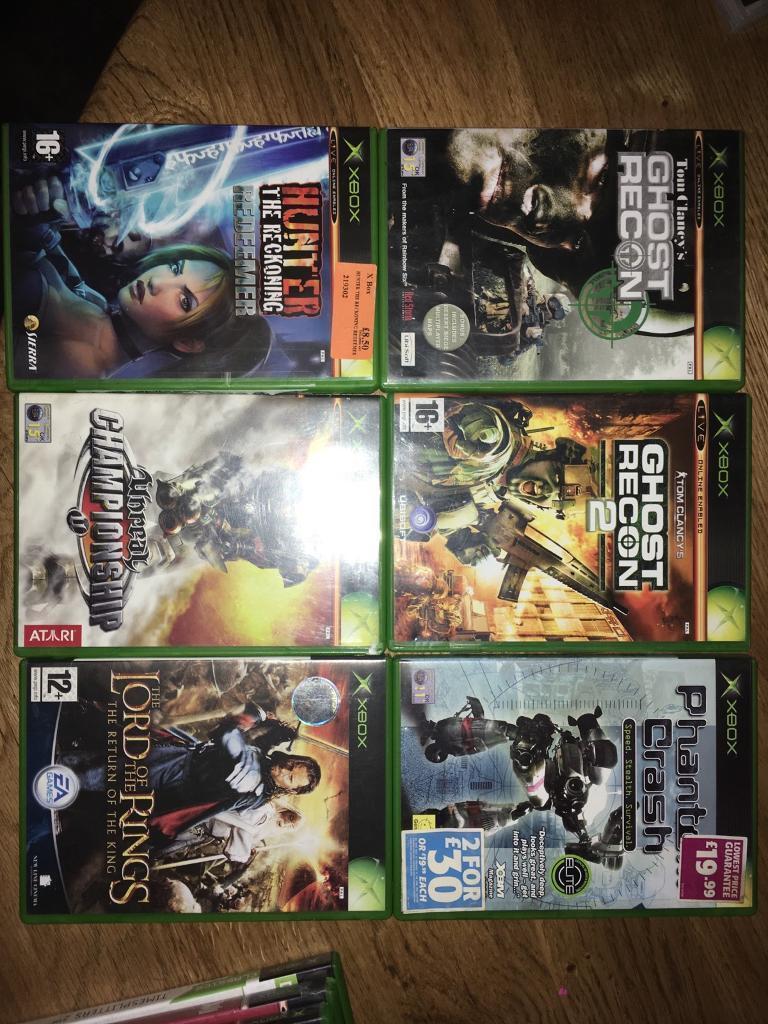 Xbox games x 6No.