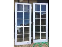 Pair of French Doors, single glazed.