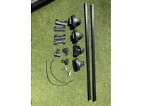 Roof bar, clamps and pads for a VW Golf mark 6