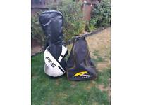 Full set of ping g30 golf clubs and power caddy fw3