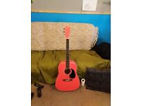 Gear4music Electro Acoustic Guitar 3/4 - Pink