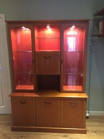 Dining Room Dresser/ cabinet- spacious- with attractive lights