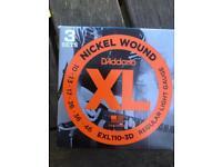 3 sets of electric guitar strings £12 D'Addario exl110