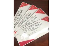 Rolling Stones tickets x 4 seated -selling at face value
