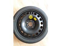 Vauxhall 5 Stud Space Saver Tyre Spare Wheel 115/70/16