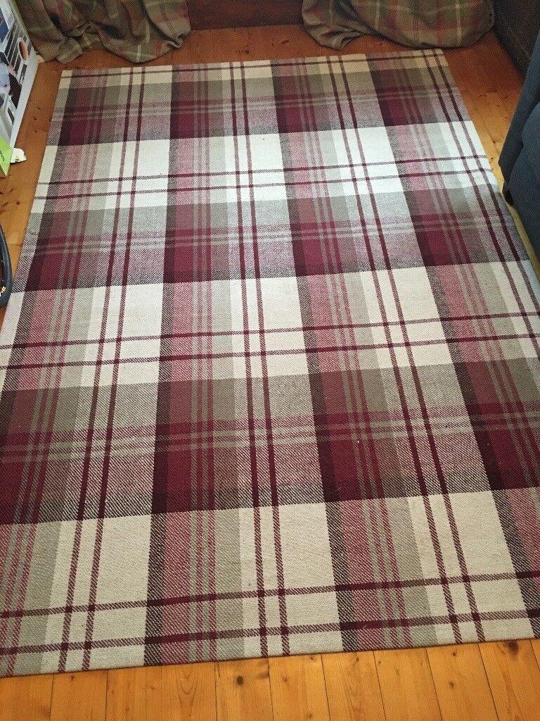 Large tartan rug
