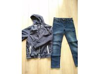 water resistant jacket and skinny jeans for 11/12 years old