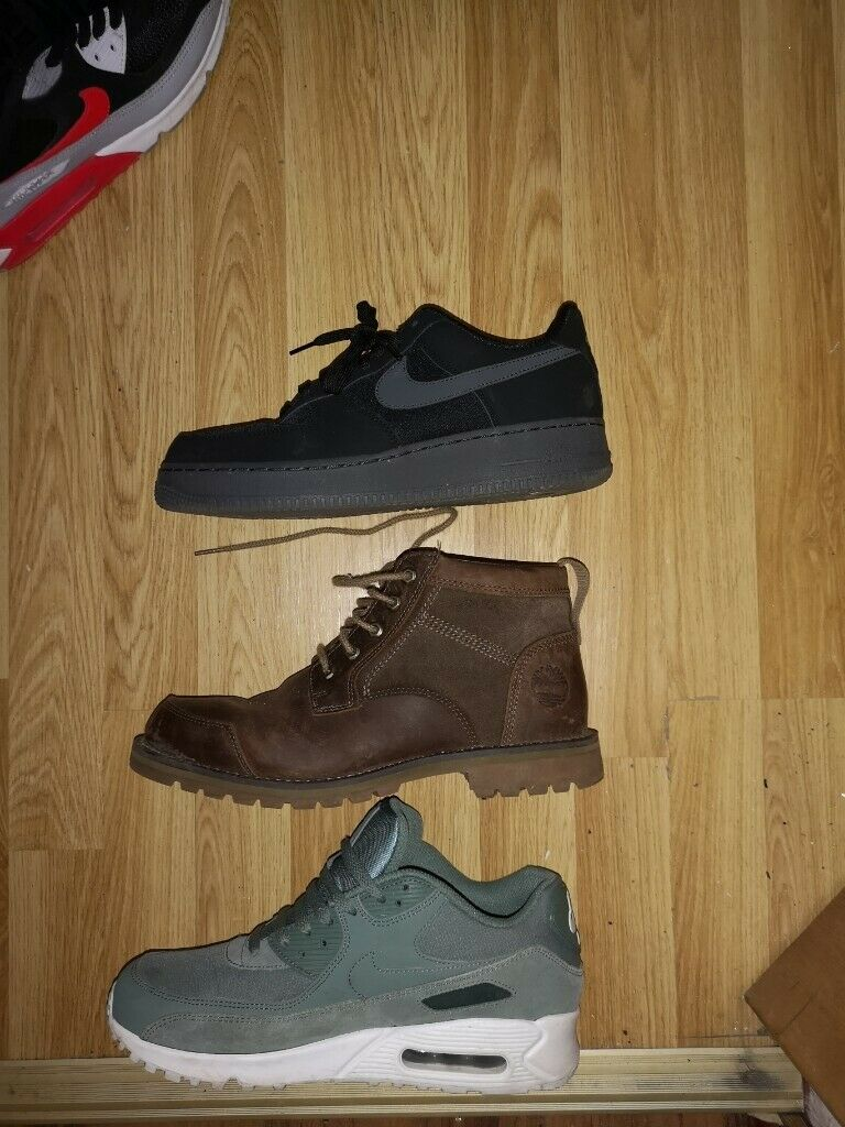 designer fashion 40d7d d8cc4 Men s trainers and boots for sale, size 8. Timberland. Nike Air max.
