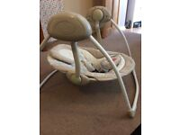 Bright Starts Cosy Kingdom Portable Baby Swing - hardly used, excellent condition