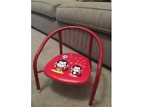 Kids Metal Chair with squeaky sound (red)