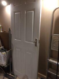 "£10 Internal white door, basic quality, 75cm wide 29 &1/2 """