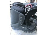 Brand new size 10 boats and snow board with new bag