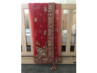 Indian Bridal Lehenga - Red/Gold/Peach - £1,650 RRP - Sonas Couture