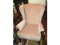 Appealing Vintage Parker Knoll Wing Back Queen Anne Fireside Armchair