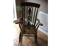 Heavy solid wood rocking chair