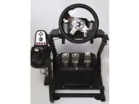 Logitech G25, wheel pedals and shifter, with Omega GT stand.