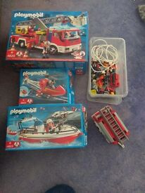 Playmobil fire engine and more